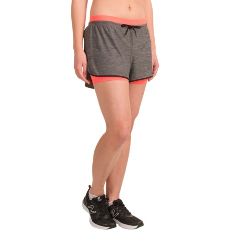 Layer 8 Double-Waistband Knit Shorts - Built-In Shorts (For Women)