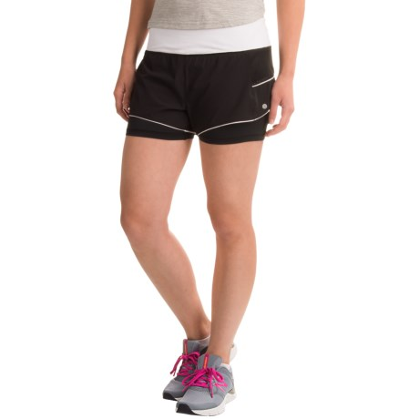 Layer 8 Stretch-Woven Shorts (For Women)