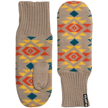 Kavu Della Mittens - Merino Wool Blend (For Men and Women)
