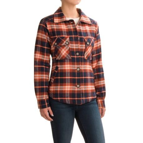 Kavu Lowlands Lined Flannel Shirt Jacket (For Women)
