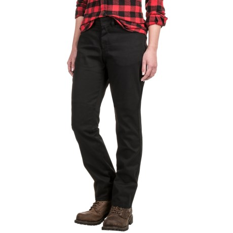 Dickies Curvy Fit Twill Pants - Straight Leg (For Women)