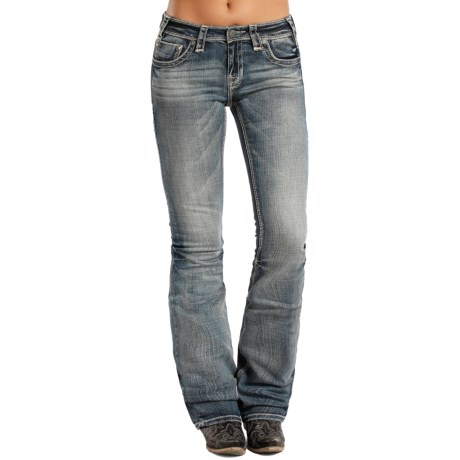Rock & Roll Cowgirl Rival Embroidery Jeans - Mid Rise, Bootcut (For Women)