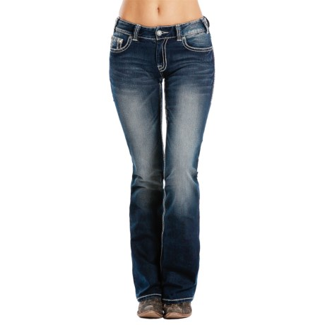 Rock & Roll Cowgirl Extra Stretch Jeans - Mid Rise, Bootcut (For Women)