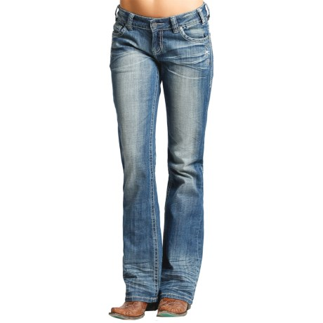 Rock & Roll Cowgirl Rhinestone Riding Jeans - Bootcut (For Women)