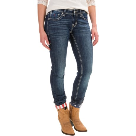 Rock & Roll Cowgirl Stars and Stripes Skinny Jeans - Low Rise (For Women)