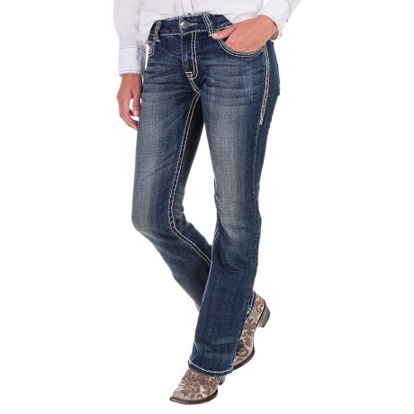 Rock & Roll Cowgirl Chevron Jeans - Mid Rise, Bootcut (For Women)