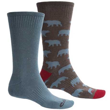 Hi-Tec Comfort Lifestyle Socks - 2-Pack, Crew (For Men)