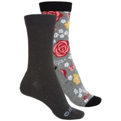 Hi-Tec Comfort Lifestyle Socks - 2-Pack, Crew (For Women)