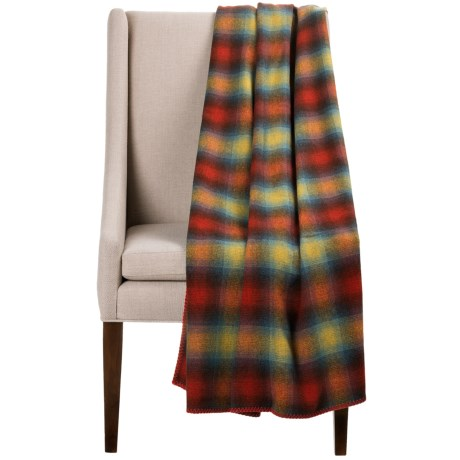 Bambeco Plaid Wool Throw Blanket - 54x70""