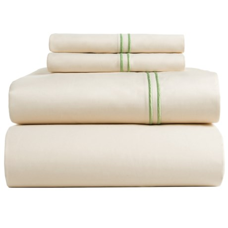 Bambeco Satin Stitch Organic Cotton Sateen Sheet Set - Full, 500 TC