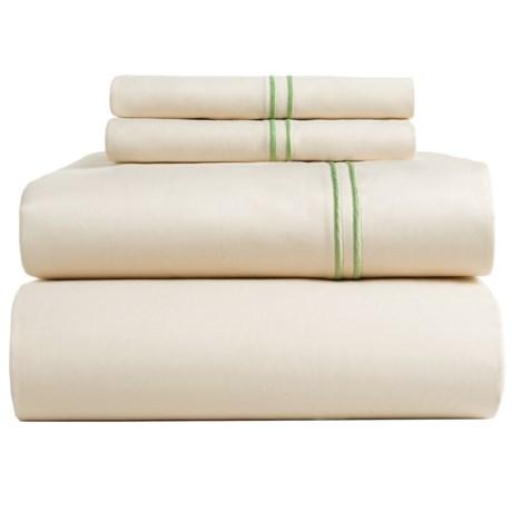 Bambeco Satin Stitch Organic Cotton Sateen Sheet Set - Full, 500 TC