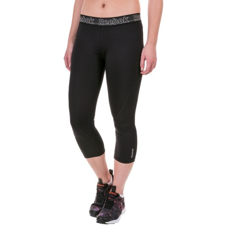 Reebok Solid Spark Capris (For Women)