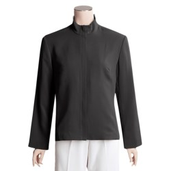 TravelSmith Microfiber Zip Jacket - Petite, Regular Sizing, Wrinkle Resistant (For Women)