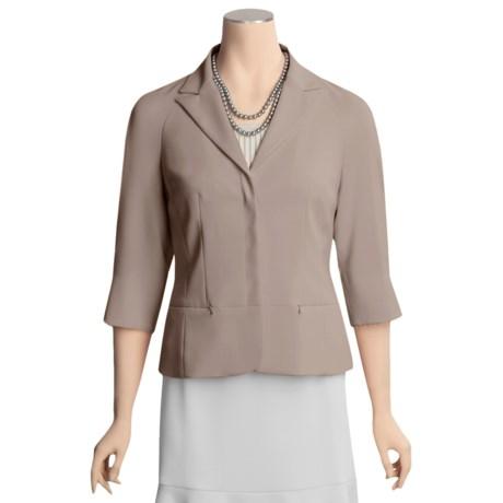 Yansi Fugel Microfiber Peplum Jacket - Stretch Crepe, 3/4 Sleeve (For Women)