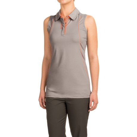 Reebok Space-Dyed Polo Shirt - Sleeveless (For Women)