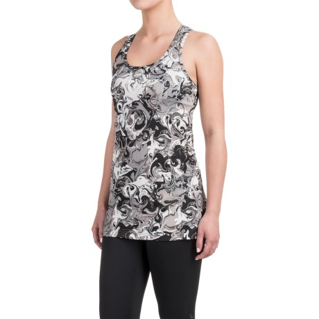 Reebok Marbelous Printed Singlet Shirt - Sleeveless (For Women)