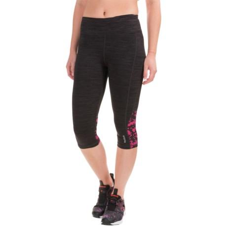 Reebok Impact Printed-Mesh Capri Leggings (For Women)