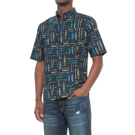 Woolrich Walnut Run Printed Shirt - Short Sleeve (For Men)