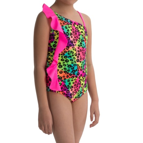 Freestyle Wild Prismatic One-Piece Swimsuit - Fully Lined (For Big Girls)