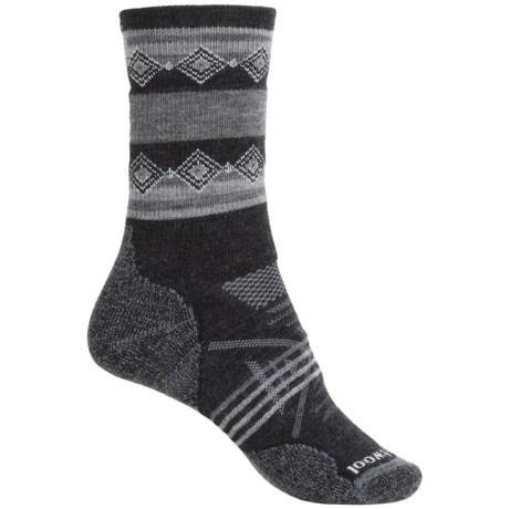 SmartWool PhD Outdoor Pattern Socks - Merino Wool, Crew (For Women)