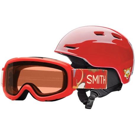 Smith Optics Zoom Jr. Ski Helmet Gambler Goggle Combo (For Little and Big Kids)