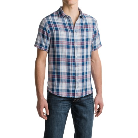 JACHS NY J.A.C.H.S. Double-Layer Plaid Shirt - Short Sleeve (For Men)