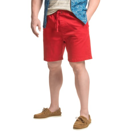 JACHS NY Elastic Waist Stretch Twill Shorts (For Men)
