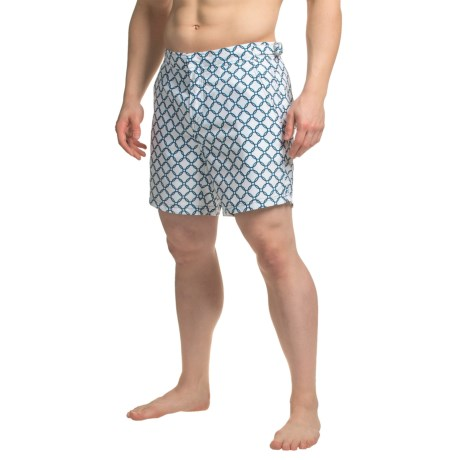 JACHS NY Geometric Printed Hampton Swim Shorts (For Men)