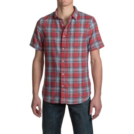 JACHS NY J.A.C.H.S. Single-Pocket Double-Faced Plaid Shirt - Short Sleeve (For Men)