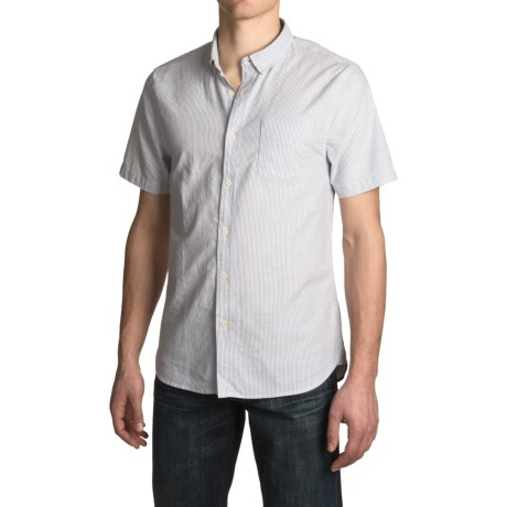 JACHS NY J.A.C.H.S. Stripe Oxford Shirt - Short Sleeve (For Men)