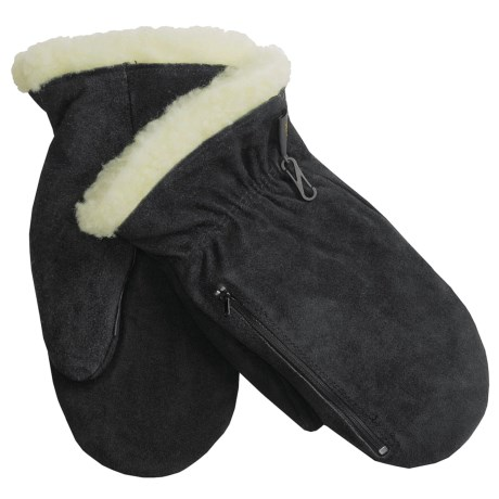 Auclair Cowsplit Winter Chore Mittens - Pile Lined (For Men)