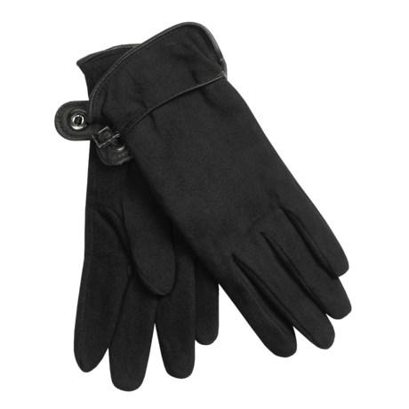 Auclair Deer Suede Gloves - Polyfleece Lining (For Women)