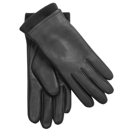 Auclair Cowhide Leather Gloves with Removable Fleece Liner (For Women)