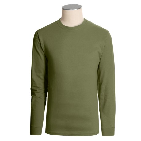 Hanes Heavyweight Cotton T-Shirt - Long Sleeve (For Men and Women)