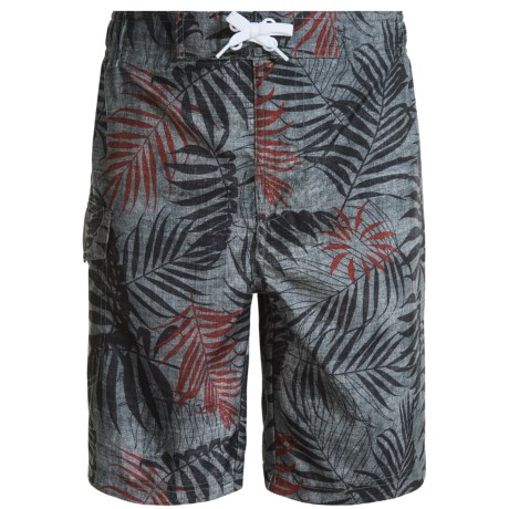 Lucky Brand Floral Boardshorts - Built-In Briefs (For Little Boys)
