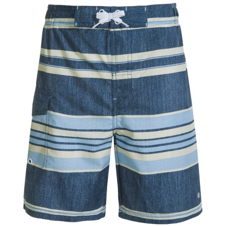 Lucky Brand Striped Swim Trunks (For Big Boys)
