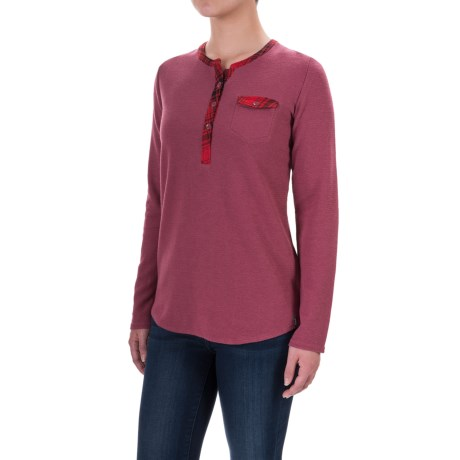 Woolrich Through the Woods Henley Shirt - Long Sleeve (For Women)