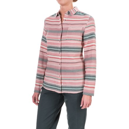 Woolrich First Light Striped Jacquard Shirt - Long Sleeve (For Women) in Deep Indigo Stripe - Closeouts