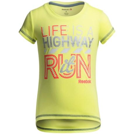 Reebok Life is a Highway T-Shirt - Short Sleeve (For Big Girls)