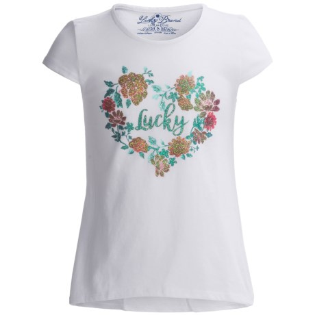 Lucky Brand True Love T-Shirt - Short Sleeve (For Big Girls)