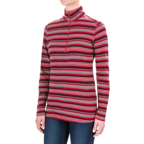 Woolrich Mile Run Shirt - Cotton, Zip Neck, Long Sleeve (For Women)