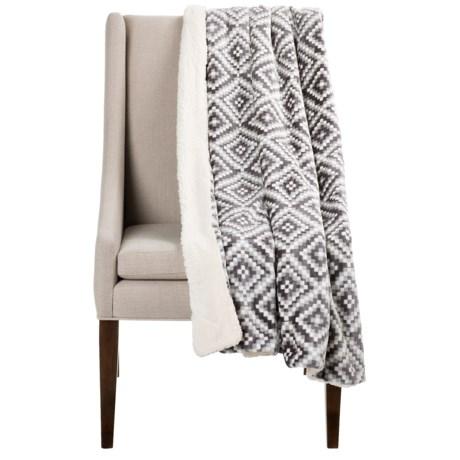 """Pacific Crest Montauk Southwest Velvet Berber Throw Blanket - 50x60"""""""