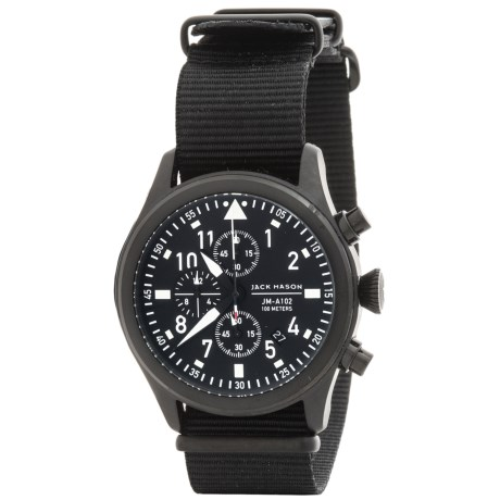Jack Mason Aviator Chronograph Watch with Nylon Band - 42mm