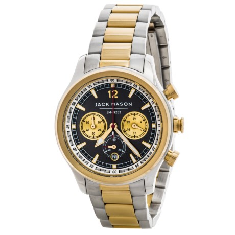 Jack Mason Aviator Chronograph Watch with Stainless Steel Band - 36mm