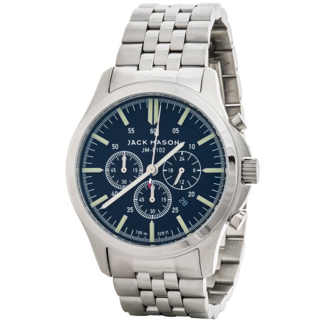 Jack Mason Field Chronograph Watch with Stainless Steel Band - 42mm