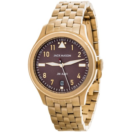 Jack Mason Aviator Watch with Stainless Steel Band - 36mm