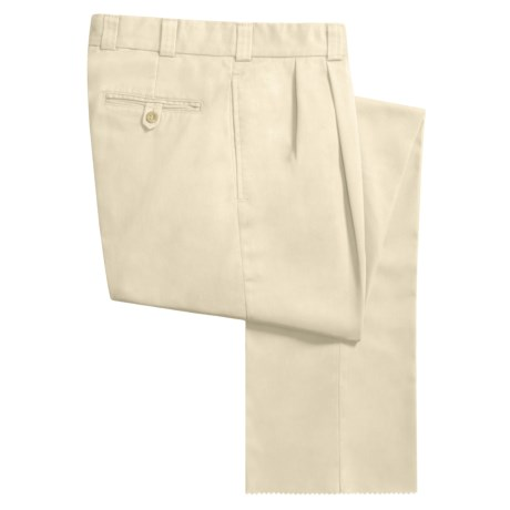 Bills Khakis M2 Cotton Twill Pants - Pleated Front (For Men)