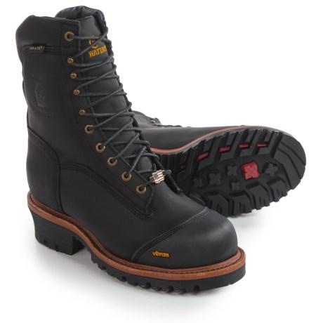 "Chippewa Logger Work Boots - Composite Safety Toe, Waterproof, Insulated, 9"" (For Men)"
