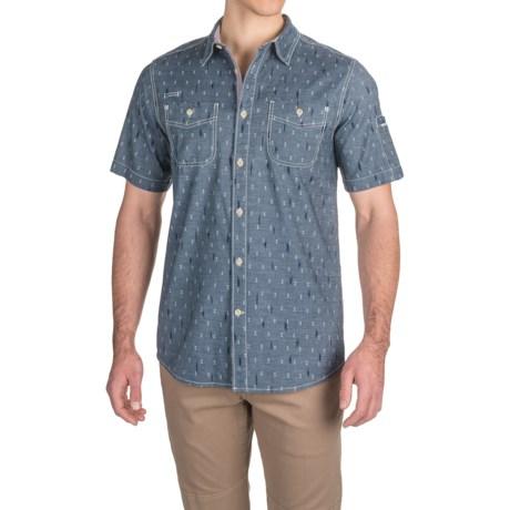 Gramicci Indi-Chambray Print Shirt - Short Sleeve (For Men)