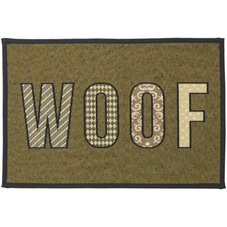 "PetRageous Woof Dog Bowl Placemat - 19x13"""